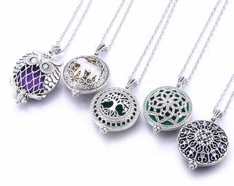 Aroma Diffuser Necklace Open Antique Vintage Lockets Pendant Aromatherapy pendant