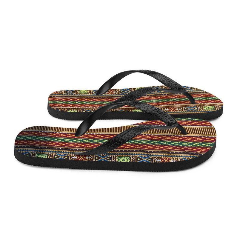 Dashiki Pattern African Pattern Flip-Flops