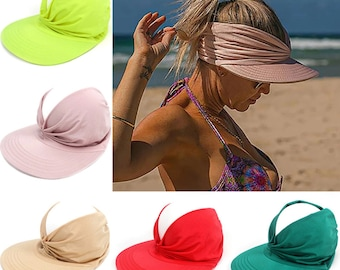 Sun Visor Hat Cap Brim Beach Summer Cotton Golf Clip Women Womens Fishing Tennis Boonie Bucket Adjustable -  2021 New Support