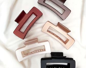 Stylish XL French Claw Hair Clip / Geometric design /