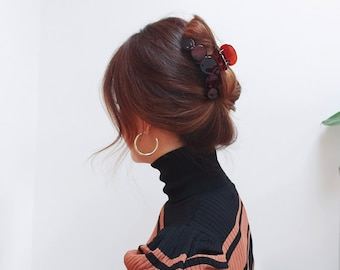 Large French Claw Hairclip, Strong & Secure, 4 colours Available