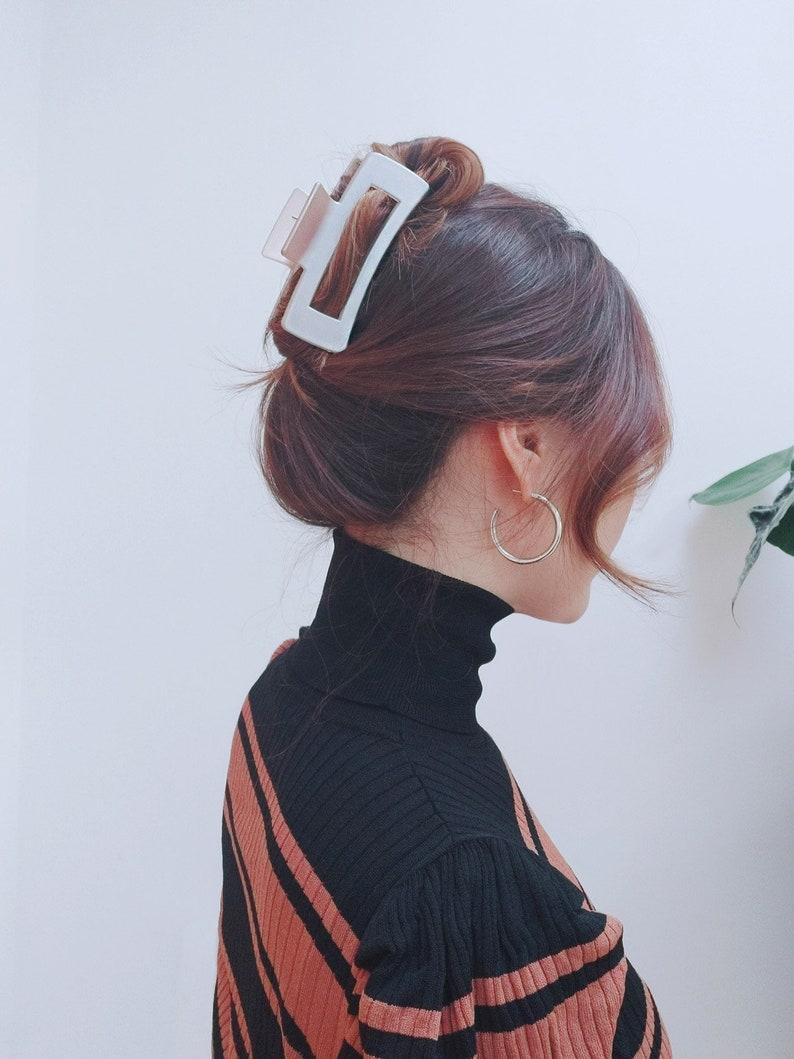 Stylish XL French Claw Hair Clip / Geometric design