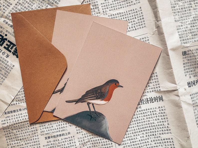 A6 Print  Postcard Robin