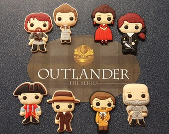 Outlander Inspired Characters Diamond Painting Cover Minder | Needle Minder | Magnet | Pin | Jamie Fraser | Claire | Jack Randall | Dougal