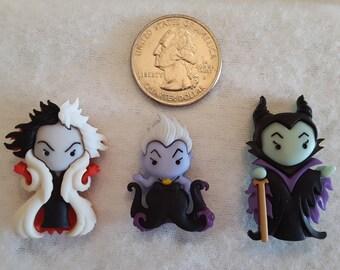 Disney Villains Diamond Painting Cover Minder | Needle Minder | Magnet | Pin | Maleficent | Ursula | Cruella De Vil | Queen Halloween Witch