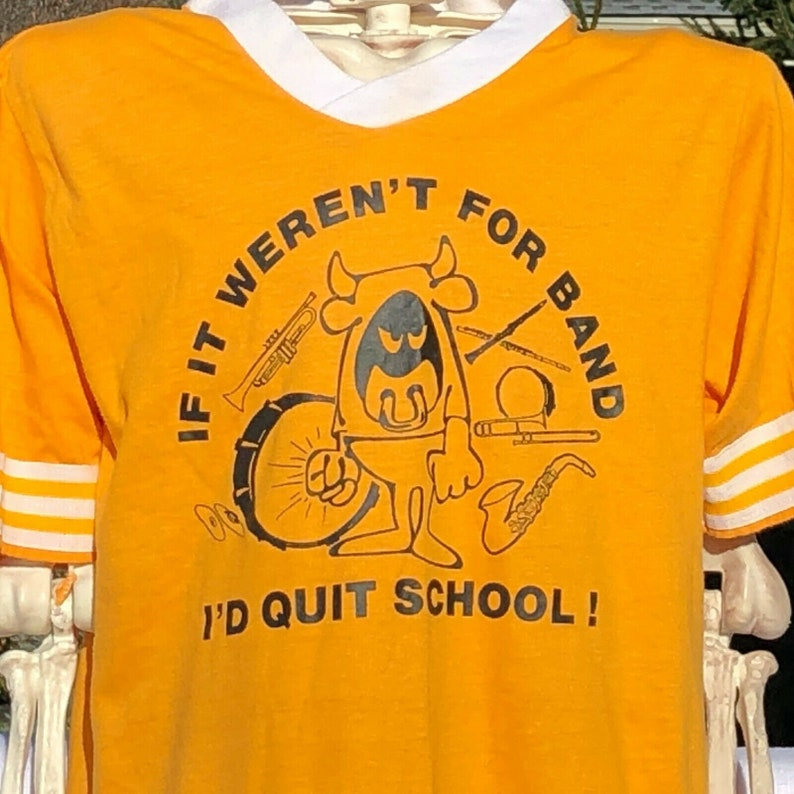 vtg 80/'s t-shirt If It Weren/'t For Band.. Avon MARCHING BAND indiana size s