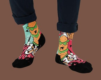 Basketball Socks - Fun Socks - Outfit - Crasy Socks with Print