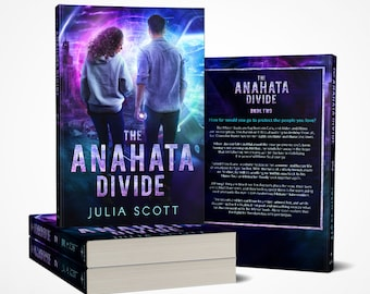 Signed paperback copy of The Anahata Divide by Julia Scott - with character art