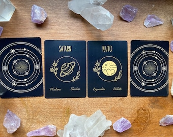 Minimalist Astrological Oracle Cards