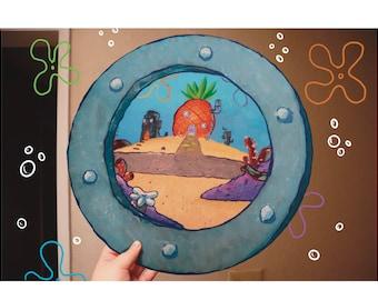 Spongebob Painting Etsy