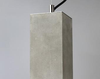 Concrete Lamp, Black lamp, Led Light, Industrial Light, Ceiling Light, Concrete Lighting, Lamp for Dining Room ,Pendant Light , Led Lamp