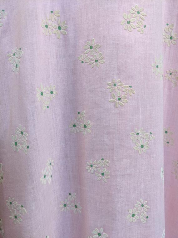Vintage 1970s Pink ditsy floral 1970s Prairie Boh… - image 6