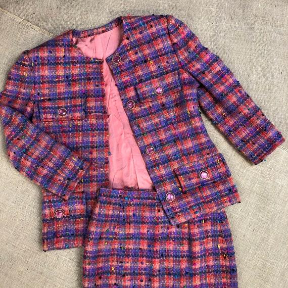 Vintage 1980s ladies handmade tweed Princess Diana