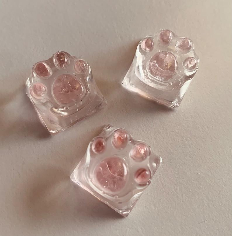 Pink Paw Resin Keycap