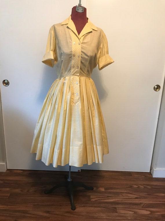 Vintage Shirtwaist Dress
