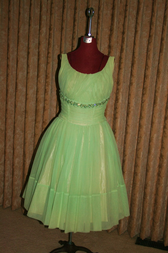 Vintage 50s Lucy full party dress - image 8