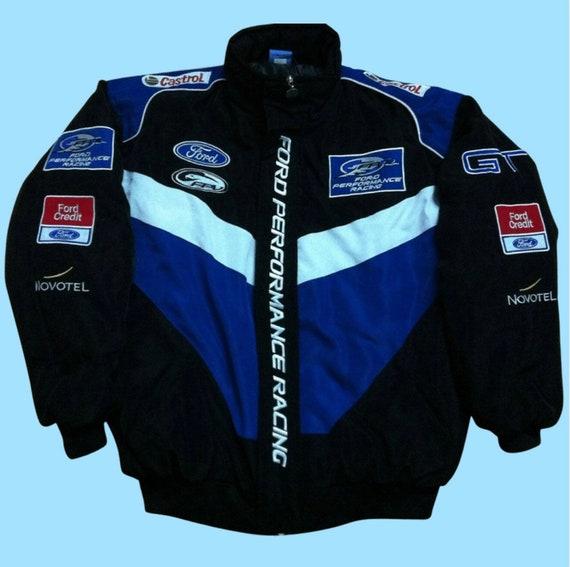 Vintage Ford Nascar Racing Jacket Blue / Black