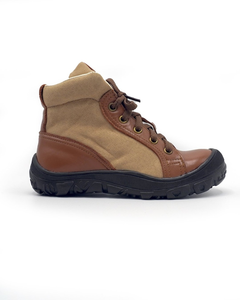 Ankle Length Leather Boots for Kids
