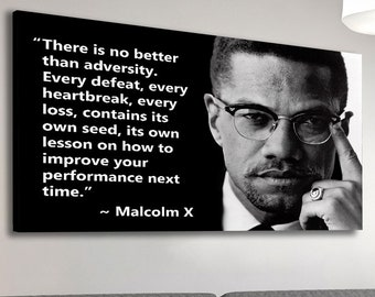 Malcolm X Quote PRINT POSTER WALL UK