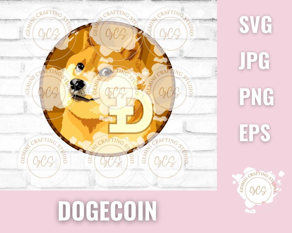 Dogecoin Meme SVG Dogecoin PNG Stonks Doge SVG | Etsy