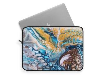 Custom Printed Laptop Case Three Sizes Original Acrylic Pour Artwork