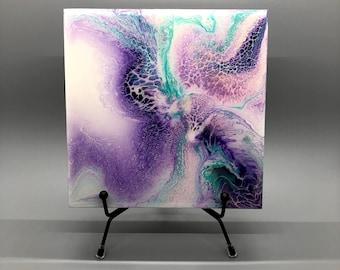 Original Acrylic Pour Artwork on One Side Three Sizes Custom Printed Laptop Case