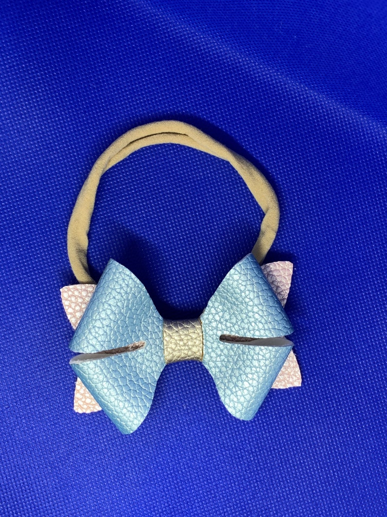Baby and Toddler Faux Leather Bow Headband Hair Accessories