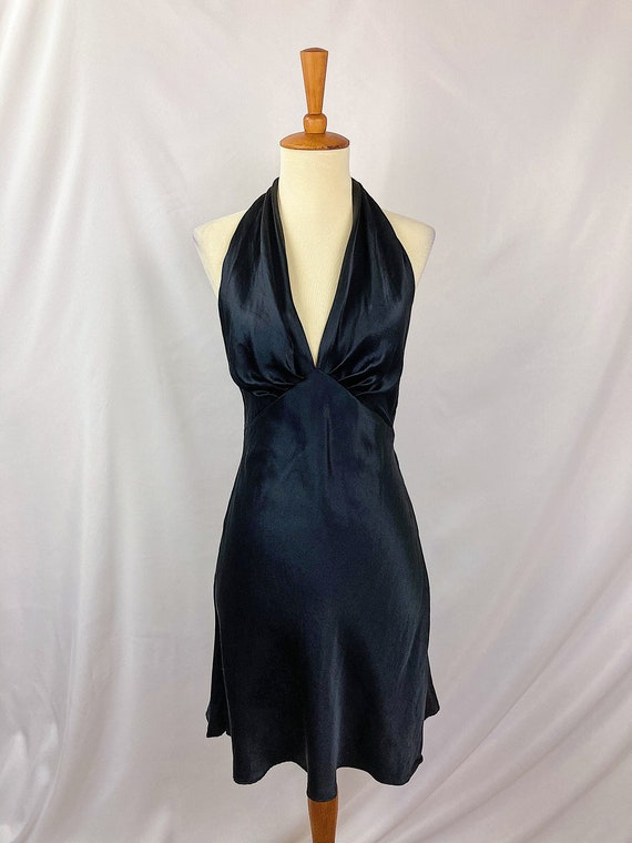 Vintage Inky Silk Slip Dress