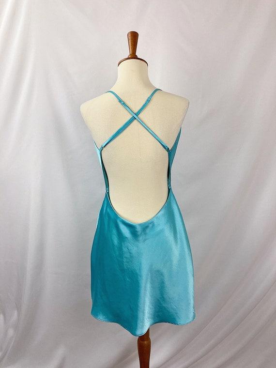 Vintage Open Back Mini Dress