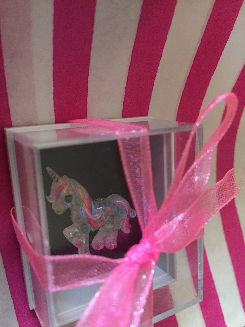 Kawaii Keepsake Unique Gift Feelgood Gift Quirky Gift Pocket hug Missing You Gift Shelf Ornament The wee prancing unicorn in a box