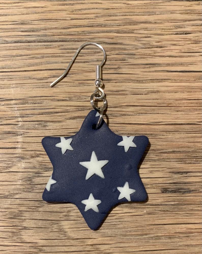 Polymer Clay Earrings Stars Glow in the Dark Handmade Fimo Earrings