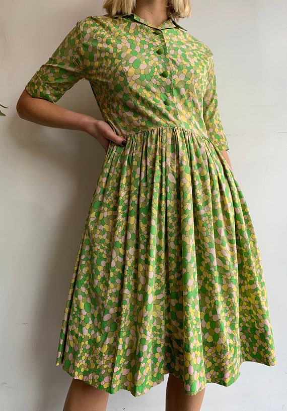 1930's Vintage Feed Sack Cotton House Dress Homema