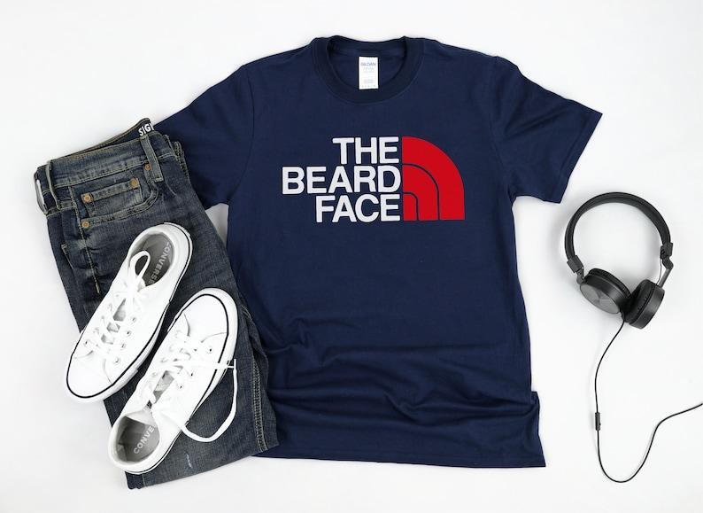 The Beard Face Shirt Climbing Shirt Camping Shirt Nature TShirt Adventure Shirt Hiking Shirt Outdoors Shirt Backpacking Tee