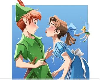 Peter Pan & Wendy Fine Art Quality Print