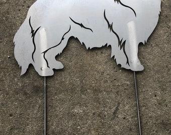 Shelti (Shetland Sheepdog) Garden Figure, Stainless Figure Dog,