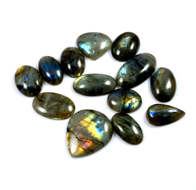 Labradorite Lot  Wholesale Labradorite Cabochon Loose Gemstone Fabulous Mix Shape Best For Jewelry 13 Pieces Lot 413 Carat