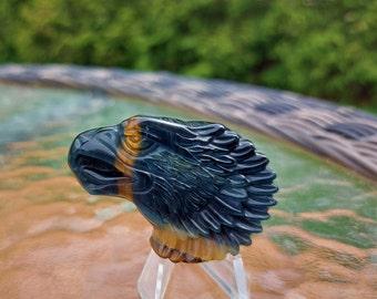 Goddess Eagle Woman Ethical Quartz Forest Crystal Necklace