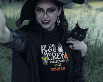 Boo Crew - Adult Unisex Tee, Premium Quality Halloween Tee for Couples, Family or Partner