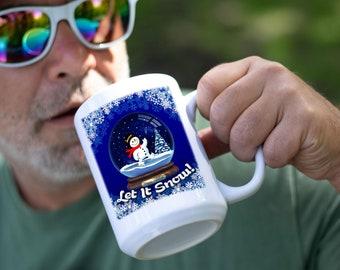 Let It Snow White Coffee Mug, Premium Quality Gift Idea for Winter