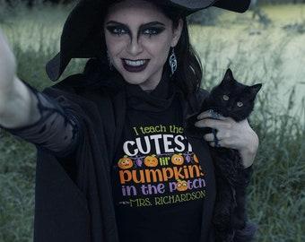Cutest Pumpkins - Adult Unisex Tee for a Teacher, Personalize Premium Quality Gift for Teacher, Fall, Halloween or Pre-School Teacher