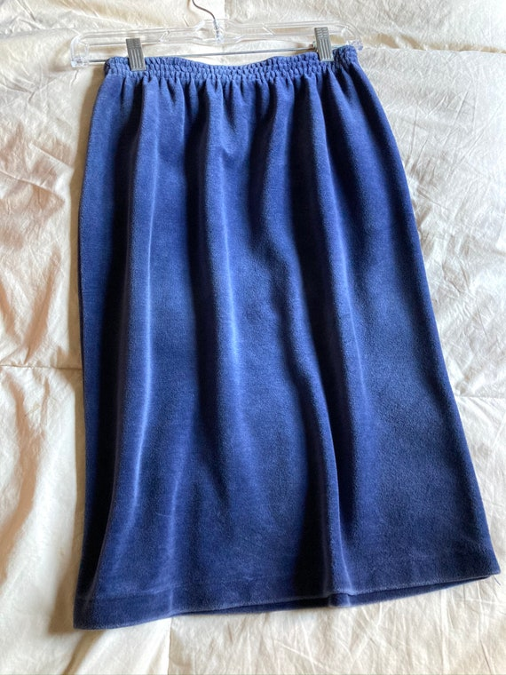 Yves Saint Laurent Vintage Velour Skirt