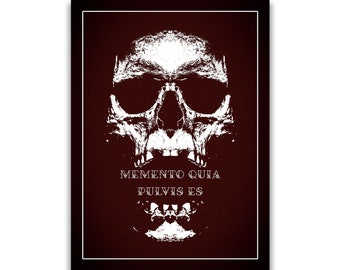 Gothic print numbered Skull