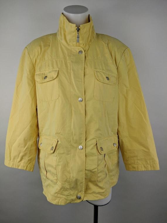 Utex Women XL Yellow VINTAGE Rain Coat Jacket