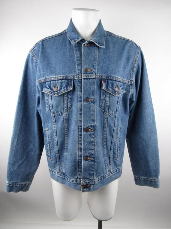 Levi's Mens L Blue Vintage Denim Jacket