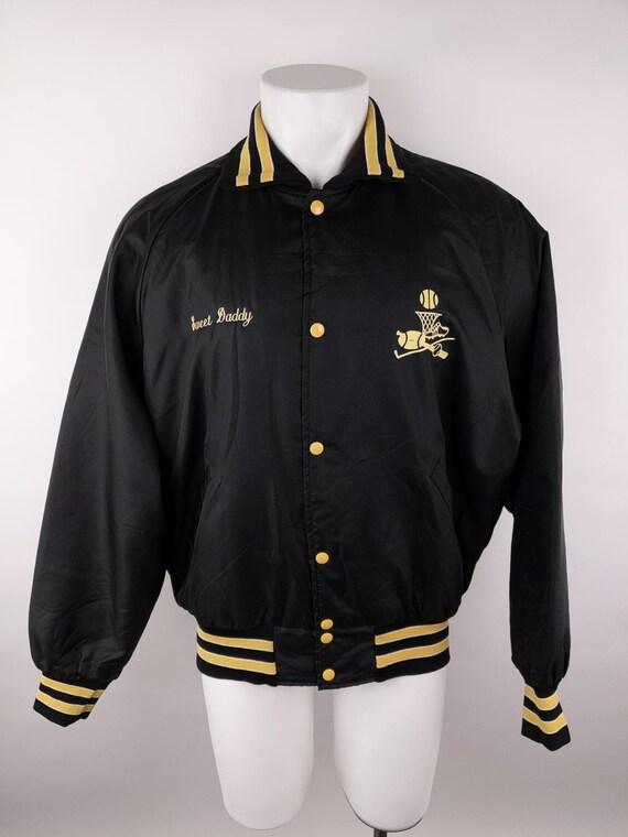 Holloway Men XL VINTAGE Black Bomber Jacket