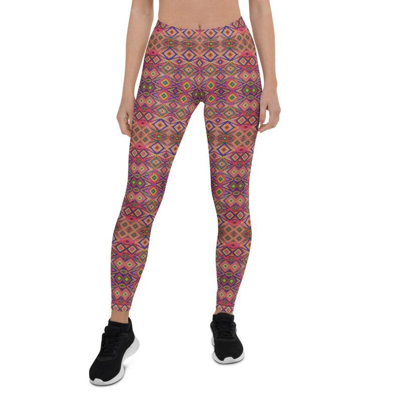 Eclectic Electric Dance Mayan Leggings Katun Mayan Designs