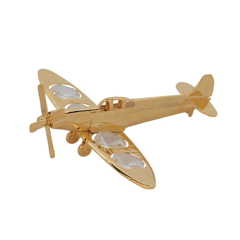 Gold Spitfire Plane