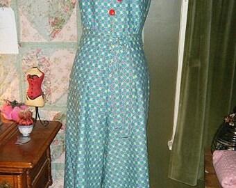 vintage 30s two piece pant halter set ON SALE 30s beach pajamas 30s wide leg pants SM 1930s pant set