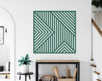 Geometric Panel No1 - Recycled Material - Acoustic - Durable - Abstract - Wall Design - PET-Felt - Living Room