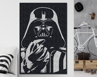 Darth Vader - Decoration Wall - Star Wars - Recycled Material - Luke Skywalker - The Empire - Mancave - Gift - Living Room - Dark Side